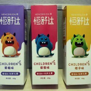 Toothpaste for children,grape/strawberry/orange flavor